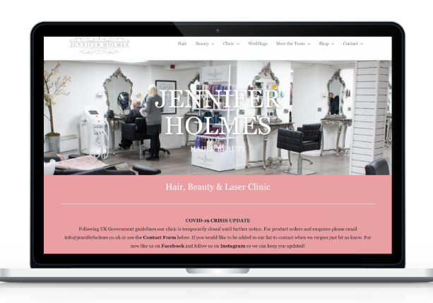 hair beauty salon web design masham harrogate yorkshire