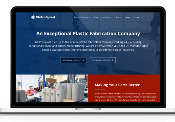 plastic manufacturing web design yorkshire north east south east