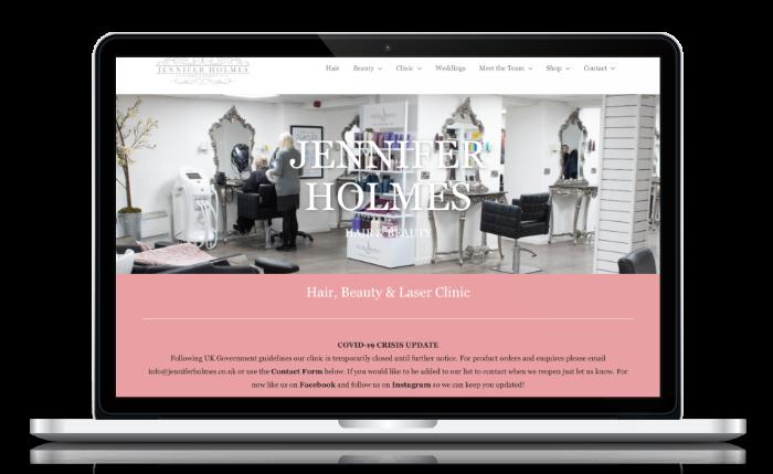 hair beauty salon web design masham harrogate yorkshire